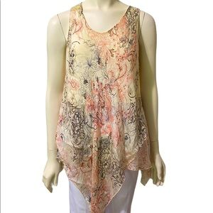 IVY & LACE Cream Pink Silk Made in Italy Top M